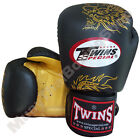Twins Special Muay Thai Boxing Fancy Gloves FBGV-6G-BK Black 8-10-12-14-16 oz.
