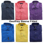 New Geoffrey Beene Men's Wrinkle Free No Iron Fitted Dress Shirt 14-19