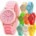 Women Men Wrist Watch Silicone Dial Stainless Steel Quartz Sport Analog Watches