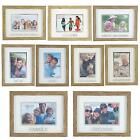 Juliana Natural Wood Effect Plastic Frame with Silver Word - Choose Design
