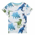 Bluezoo Kids Boys' White Dinosaur Print T-Shirt From Debenhams