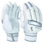 Kookaburra Ghost 200 Mens Kids Cricket Batting Gloves White/Silver