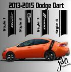 2013-2015 Dodge Dart Rear Racing Stripe Vinyl Decal Sticker SXT SRT RT SRT8 $ USD