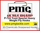 50 PMG P- Series ULTRA SHARP  Fly-Hooks - Dry - Wet - Buzzer - Blob