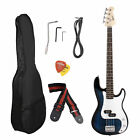 electric guitar bass amp - Blue/Red/Black Electric Bass Guitar Includes Strap, Guitar Case, Amp Cord