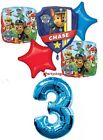 PAW PATROL 3RD BIRTHDAY PARTY BALLOONS BOUQUET DECORATIONS CHASE MARSHALL