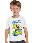 Spongebob Squarepants Shirt Personalized Birthday Shirt Custom Name and Age