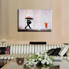 Banksy Street Rain Unframed Canvas Art Oil Painting Picture Wall Home Decor