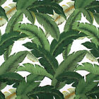 Banana Leaves Outdoor Fabric, Dark Green Palm Leaves Upholstery Fabric by Yard