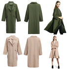 Chic Turn-down Collar Loose Women Wind Coat Lady Overcoat Female Long Outerwear