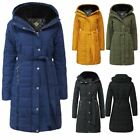 New Ladies Puffer Fur Quilted Bubble Warm Thick Padded Long Womens Coat Jacket
