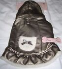 FROU-FROU DOG JACKET WITH REMOVABLE HOODIE - BRONZE COLOR WITH FLEECE LINING NEW