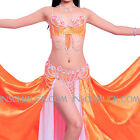 A011 Pro Belly Dancing Costume 3 Parts Bra + Belt + Skirt Belly Dancing Tribal