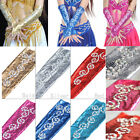 1 Pair 43cm Womens Long M Finger Gloves Belly Dance Costume Armbands 6 colors