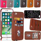 Retro Leather Wallet Credit Card Slot Back Case For iPhone 6 Plus / 6s Plus 5.5'
