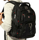 "Men's Travel Entertainment Rucksack 15"" Laptop Backpack Shoulder Swiss Hiking School Bag"