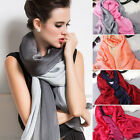 Fashion Women Double Color Long Soft Chiffon Scarf Wraps Shawl Scarves Stole