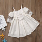 USA Toddler Kids Baby Girls Lace Dress Princess Party Pageant Holiday Dresses