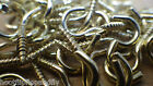 BRASS PLATED SMALL SCREW HOOKS PICTURES WIRE DIY CRAFT ART PACK 25 50 100 200