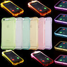 LED Flash ShockProof Soft TPU Silicone Clear Case Back Cover Incoming Call Blink