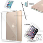 """For iPad Pro 9.7 2016, 12.9"""" Clear Slim Fit Silicone Soft TPU Back Case Cover"""