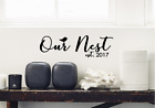Our Nest Family Vinyl Wall Art (Many Colours Available)