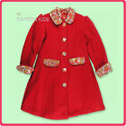 ROOM SEVEN  NWT Girls  Size 4 Fall/Winter Wool Dress Coat      RETAIL $239.00