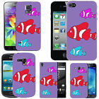 pattern case for many Mobile phones - violet assorted trio fish