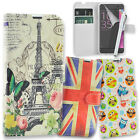 Printed Leather Wallet Case Book Flip Cover for Sony Xperia XA + Tall Stylus Pen