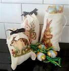 Easter Bunny Fabric Gift Bags Easter Basket Ideas Childre...