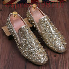 Mens Rivet Loafers spikes studs england flats casual Slip On shoes oxfords size