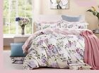 Pink-purple Roses 3pc 100% Cotton Duvet Cover Set: Duvet Cover & Pillow Shams