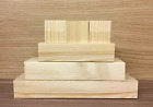3 Tier Rounded Wood Set with 3 Cubes CRAFT WOODEN BLOCKS STACKING