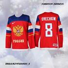 ALEX OVECHKIN 8 RUSSIA 2014 SOCHI WINTER OLYMPICS MEN HOCKEY JERSEY