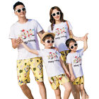 2017 Holiday Summer Family Outfits Flower clothes sets T shirt Shorts Pants