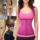 Neoprene Waist Sauna Suit Tank Top Vest Exercise Hot Gym Shaper Weight Loss VF2