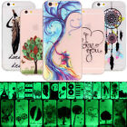 Flexible Soft TPU Silicone Luminous Case Cover For Apple iPhone Glowing in Dark