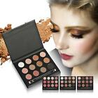 12 Color Facial Blend Makeup Highlight Natural Nude Powder Eyeshadow Palette US