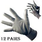 12 PAIRS 13G GREY POLYESTER PU COATED WORK GLOVES BUILDER GARDENING SAFETY DIY