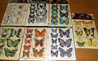 Pack Of 8 3d Glitter Effect Butterfly Card Embellishments 7 Colours To Choose