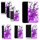 hard durable case cover for iphone & other mobile phones - purple floral bee