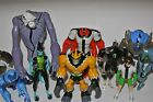 Ben 10 Action force figures Spidermonkey Swampfire Four Arms Ghostfreak Nanomech