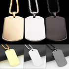 HA Army Military Dog Tag Ball Bead Chain Necklace Mens Stainless Steel Pendant