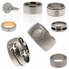 Manchester United Stone Ring Spinner Band Inlay Stainless Steel Bi Colour Gift