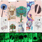 Flexible Soft Silicone TPU Clear Back Case Cover Night Glow Luminous for Apple
