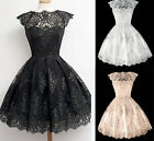 Sexy lady Women Lace Perspective Evening Formal Party Dress Bridesmaid Wedding