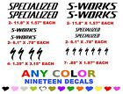 S-WORKS SPECIALIZED BICYCLE STICKERS DECALS ANY COLOR BIKE RACE S WORKS RACE