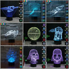 3D Star Wars BB-8 Millennium Falcon Night Tabletop Laser Cut Desk USB LED Light