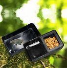 Two Style Rectangle Plastic Feeder Drinker for Reptiles Animals Black New