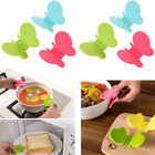 H 2Pcs Adorable Butterfly Shaped Silicone Anti-scald Devices Kitchen Tool Gadget
